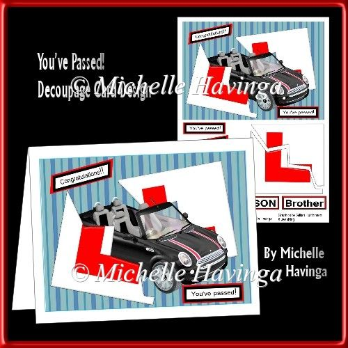 You've Passed! Driving Test Card Design