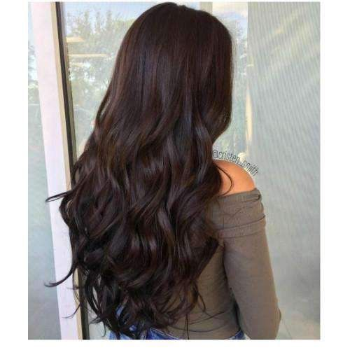 Human Hair U Part Wig 130% Density Full Head Darkest Brown Remy Human Hair