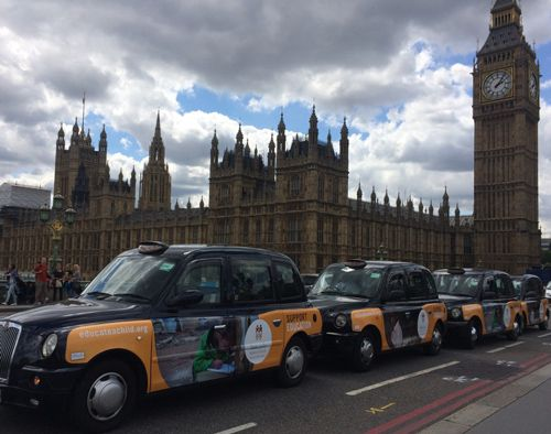 Don't miss Educate A Child's London taxi campaign to increase awareness of its cause