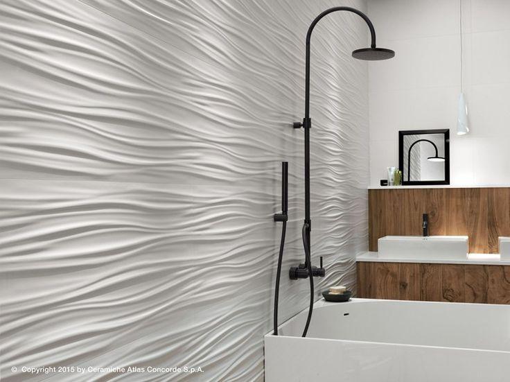Rivestimento tridimensionale in ceramica a pasta bianca 3D WALL DESIGN RIBBON by…