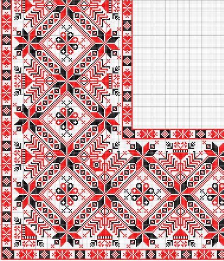 Fenyőgallyas sarok leszámolható minta