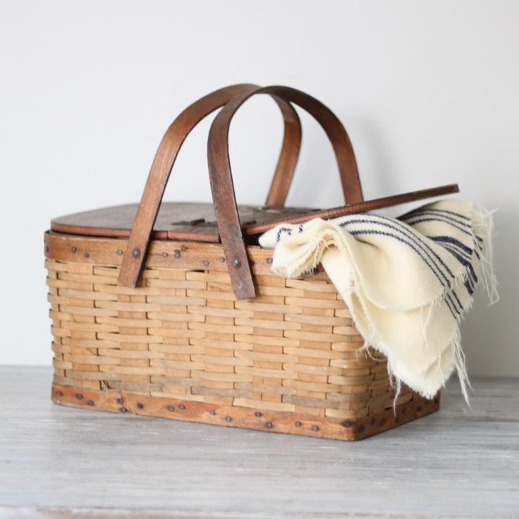 woven picnic basket. $58.00, via Etsy.