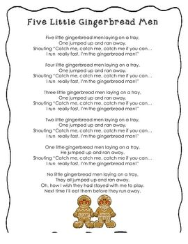 A poem for your studies on Gingerbread Men.  Practice reading each day to build fluency....