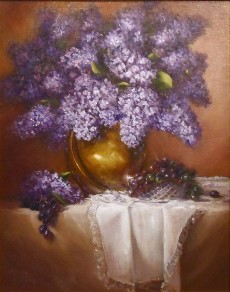 Lilacs and Lace, 20x16, oil