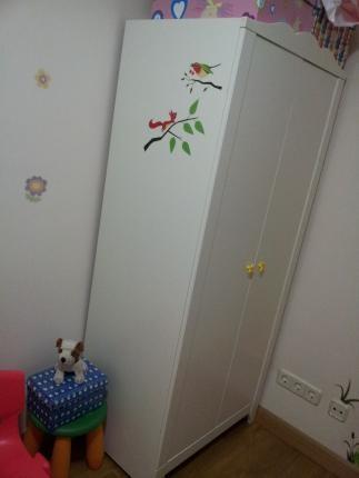 se vende armario blanco ikea segunda mano serie hensvik en perfecto estado