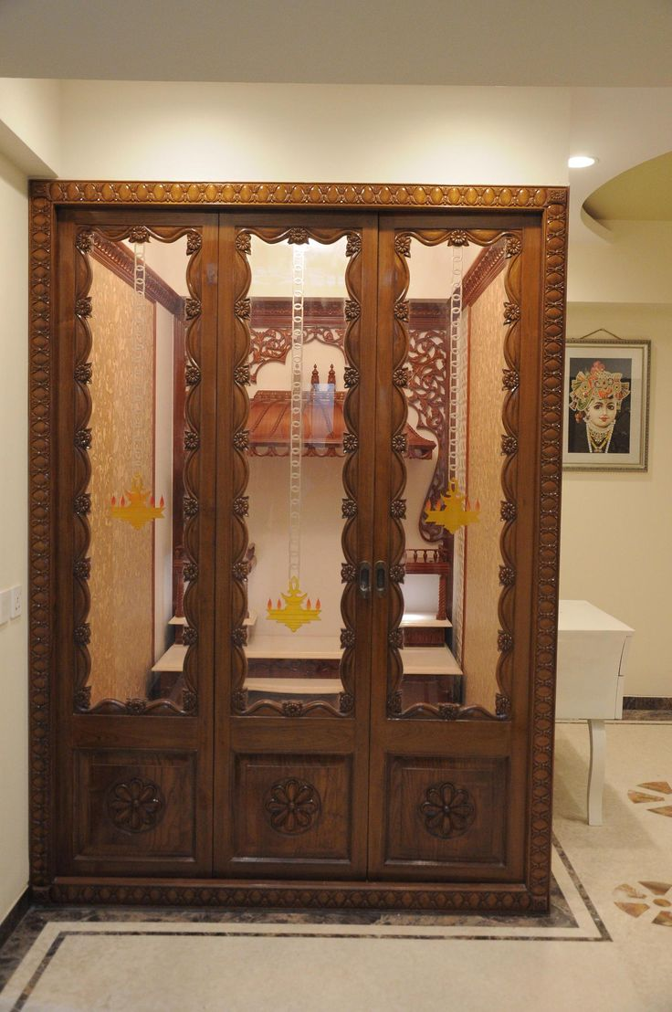 9 Traditional Pooja Room Door Designs In 2020: Internal Affairs Interior Designers