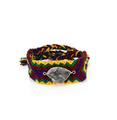 Wayuu Armband met Edelsteen 106 - €39,95