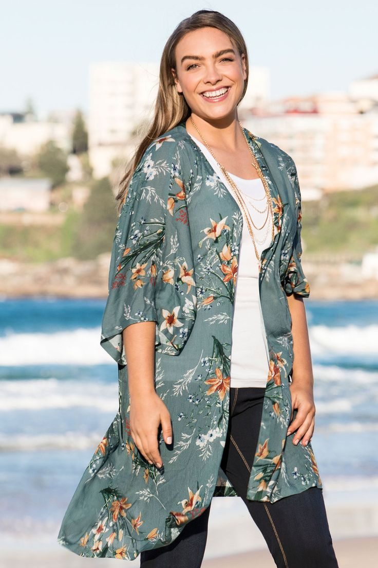 Sara Crinkle Kimono Jacket Online | Shop EziBuy