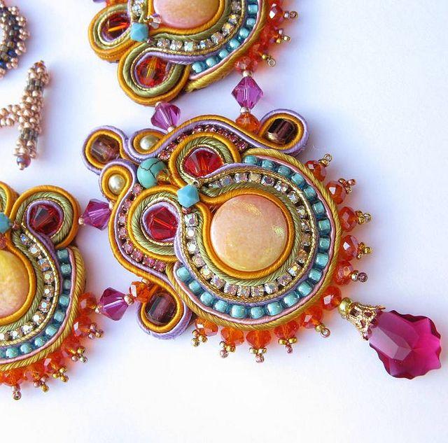 Detail Oriental Sunrise necklace by Cielo Design, via Flickr