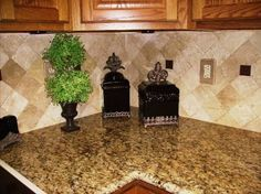 Image result for new venetian gold granite with backsplash pictures