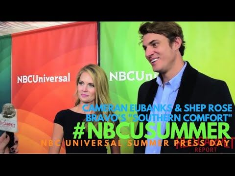 "Cameran Eubanks & Shep Rose #SouthernCharm at NBCUniversal's Summer 2016 Press Day #NBCUSummer Bravo's ""Southern Comfort"" - @CameranEubanks @ShepRose"