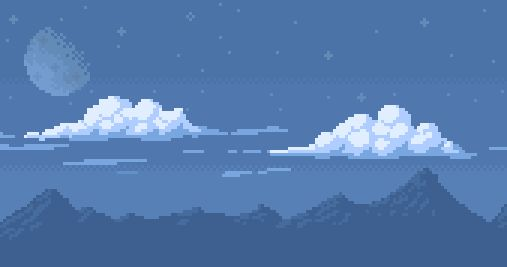 Pixel art background image (of an non existing game). Edit: Removed the text. Twitter: @wupto