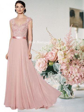 OLIVIA Long Dress - Dusky Pink