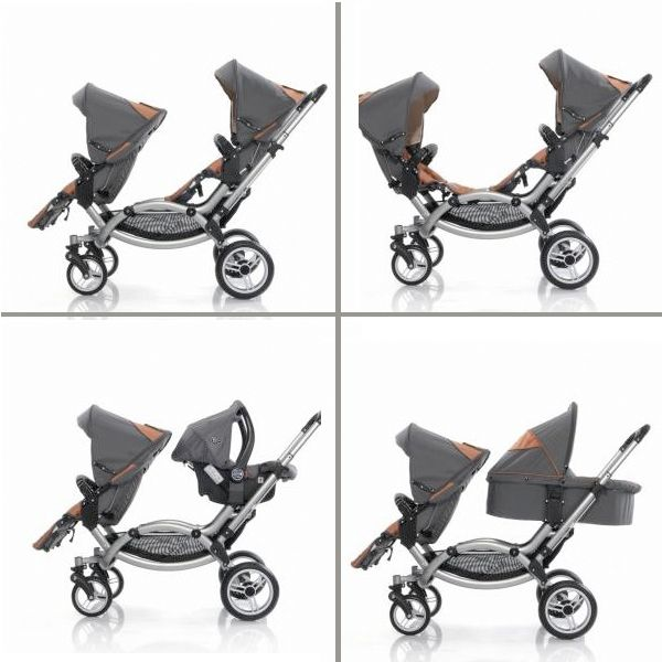 Leebruss Offers A Sleek Double Stroller - Their sleek double called the Zoom is designed to accommodate parents of twins or an infant and toddler. It features and multi-position seating system that allows parents to use a infant car seat, cot or sport seat.