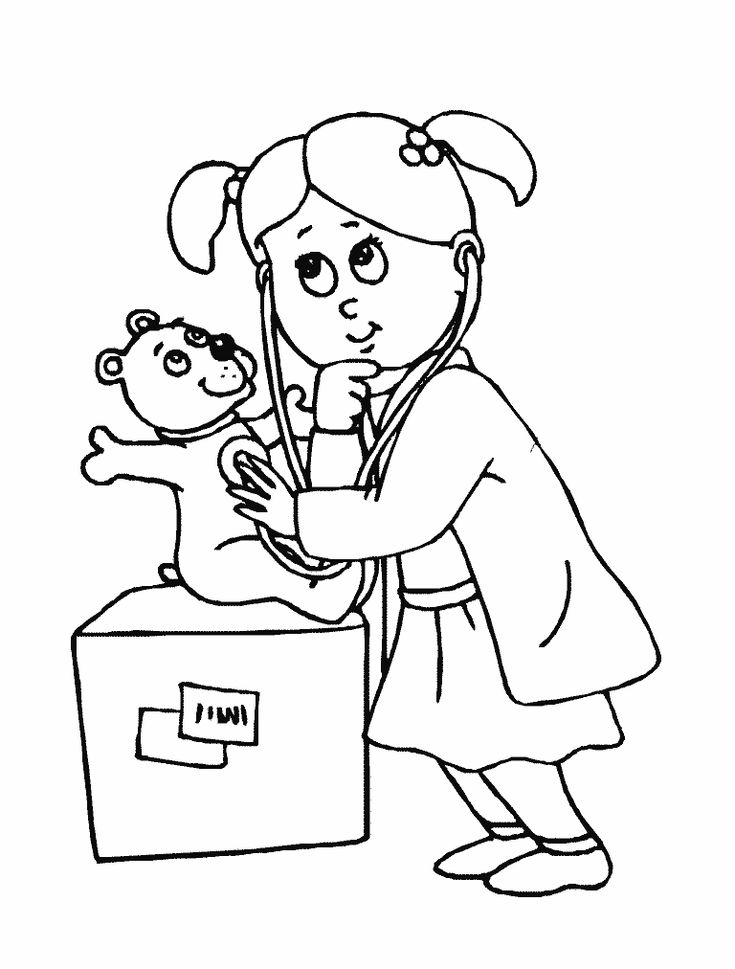 doctor coloring pages pinterest - photo#3
