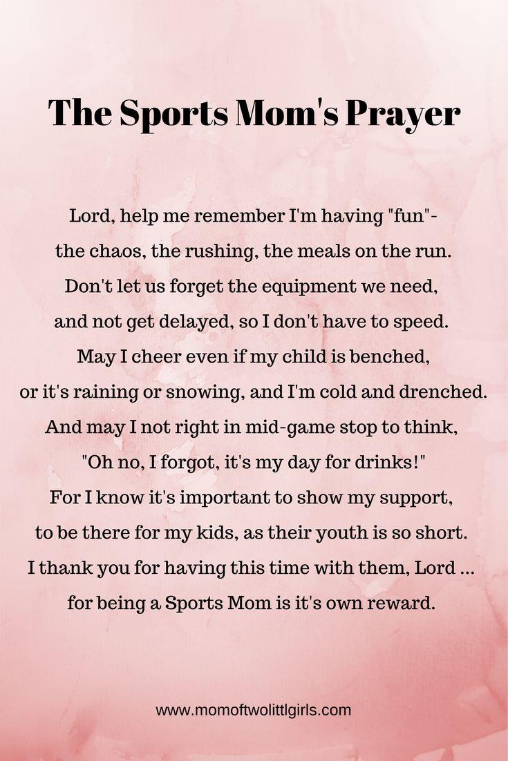 The Sports Mom's Prayer