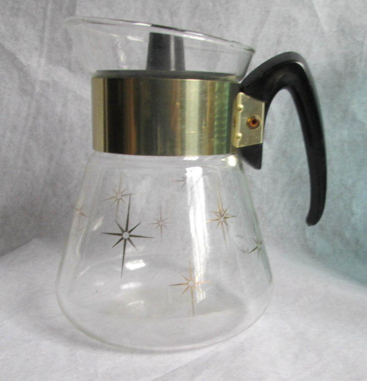 Vintage Pyrex Corning Glass Coffee Tea Carafe Starbursts with Lid by TCGHVintage on Etsy #Vintage365