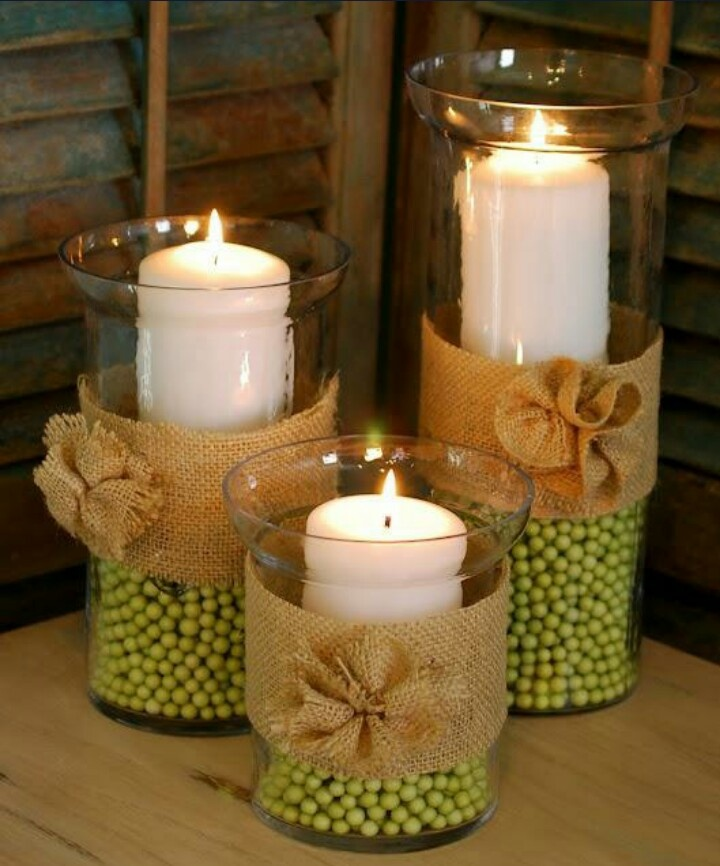 Fall Decorating With Hurricane Vases Fall Burlap And
