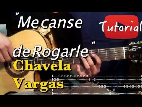 Me Canse de Rogarle - Chavela Vargas tutorial - YouTube