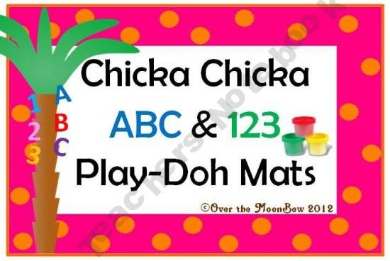 Chicka Chicka ABC & 123 Play-doh Mats: Chicka Chicka, Boom Boom, Activities Packs, Chicka Boom, 123 Plays Doh, Chicka Abc, Fine Motors Skills, Plays Doh Mats, Learning Letters