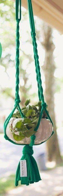más de 25 ideas únicas sobre macetas para colgar en pinterest