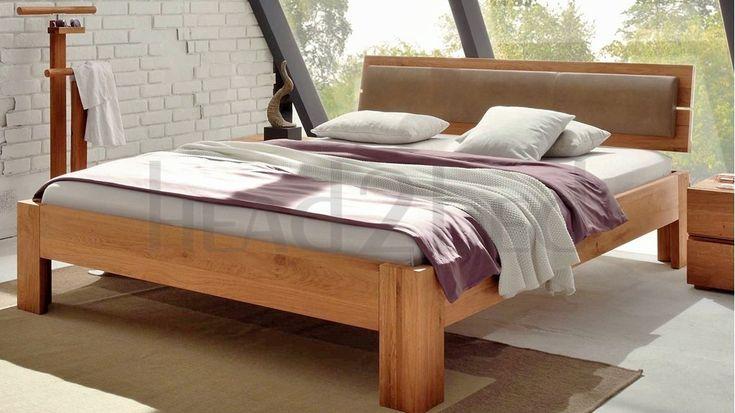 Hasena Corno Alpa Lumo - Solid Oak Real Leather bed