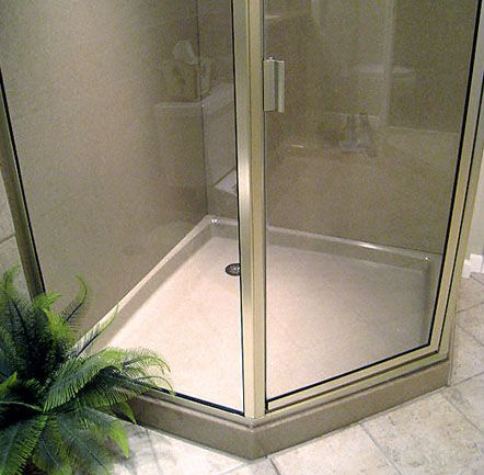 17 best ideas about corner shower kits on pinterest shower kits corner showers and walk in - Walk in shower base kit ...