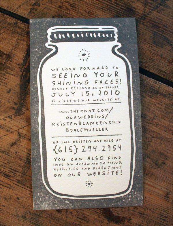 Firefly wedding invitation.