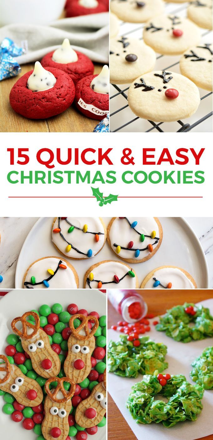 15 Quick And Easy Christmas Cookies Christmas Ideas Easy