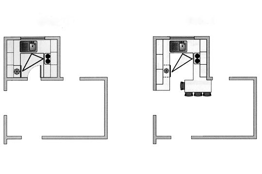 Deux solutions pour une petite cuisine : cuisine ouverte ou cuisine fermée