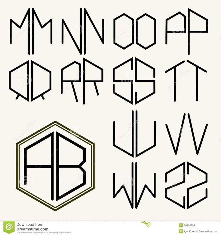 Metta 2 Lettere Del Modello Per Creare I Monogrammi Illustrazione Vettoriale - Immagine: 50990758