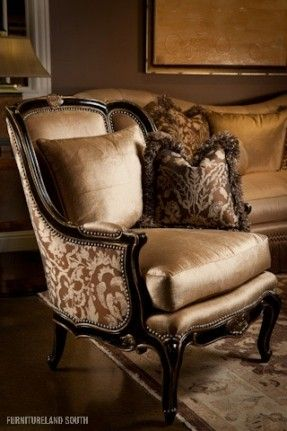 Marge Carson  Chair. Not a DIY. Just a chair I thought was beautiful.