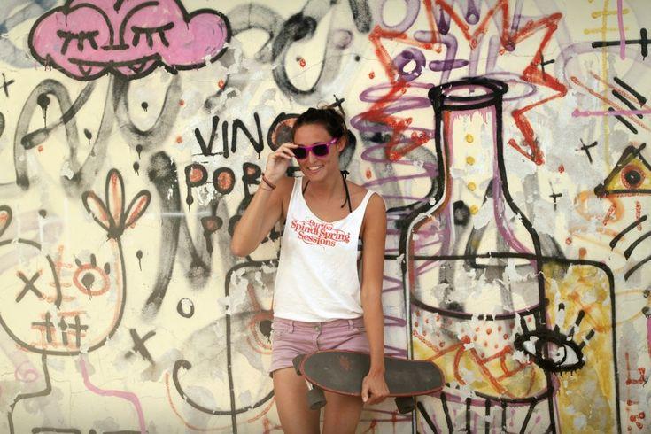 Happy summer, easy bun▲ drawing wall  Sunglasses shooting ▲ - ▲ TRAGA