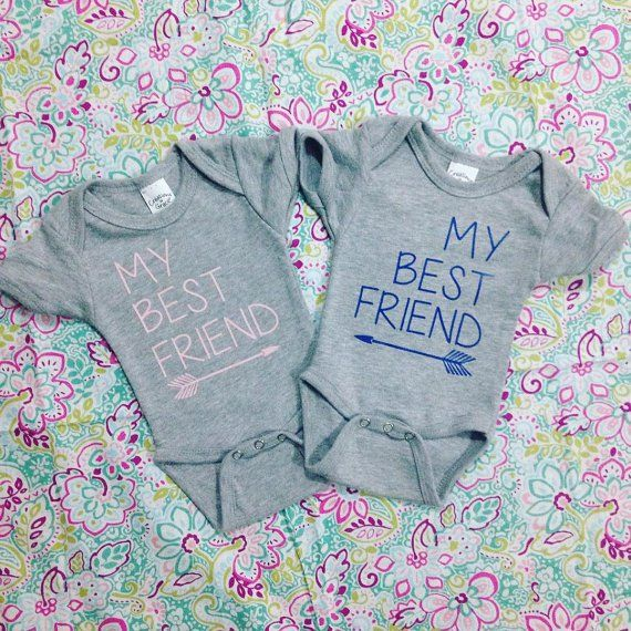 Pin for Later: 27 Adorable Onesies That Will Make Your Twins Instagram Famous My Best Friend My Best Friend Onesie Set ($30)