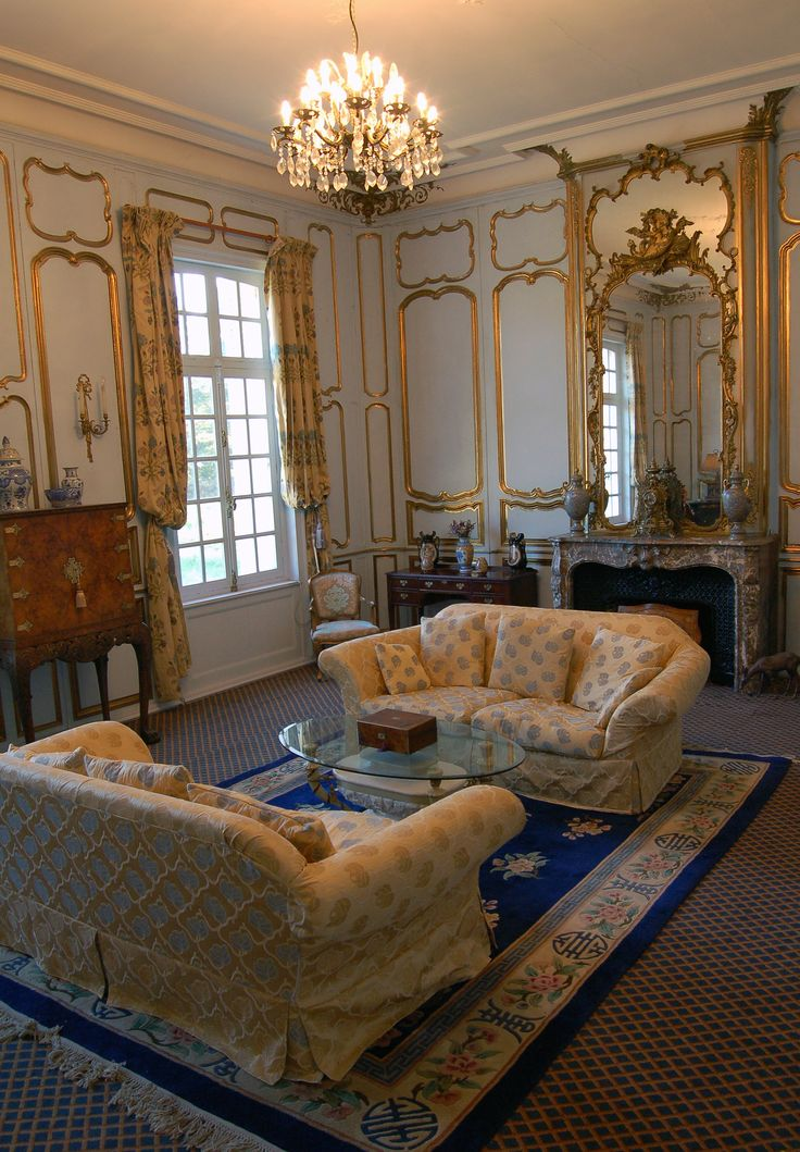interior of chateau Sommesnil Normandy