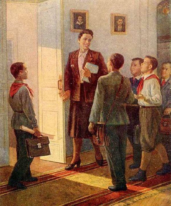 Старинные открытки о школе