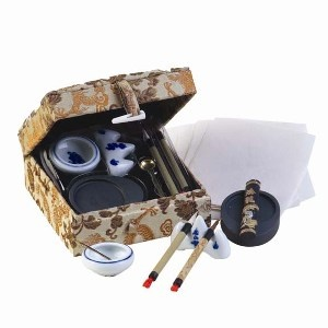 Chinese Calligraphy Set. Calligraphy is a traditional Chinese art and a quintessence of Chinese culture. It demonstrates Chinese character's unique artistic glamour by means of composition, structure, and stroke.