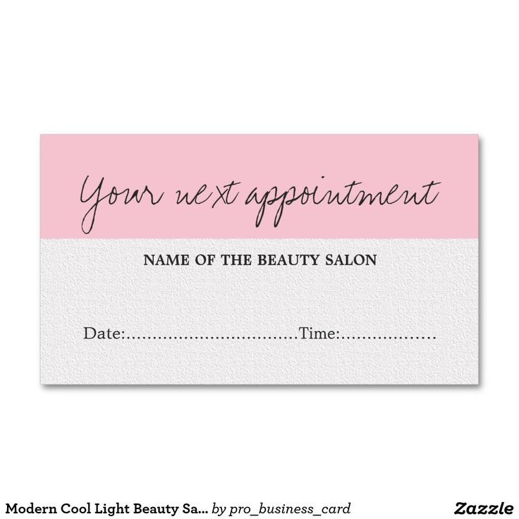 Best 94 Appointment Cards - Beauty and Health images on Pinterest ...