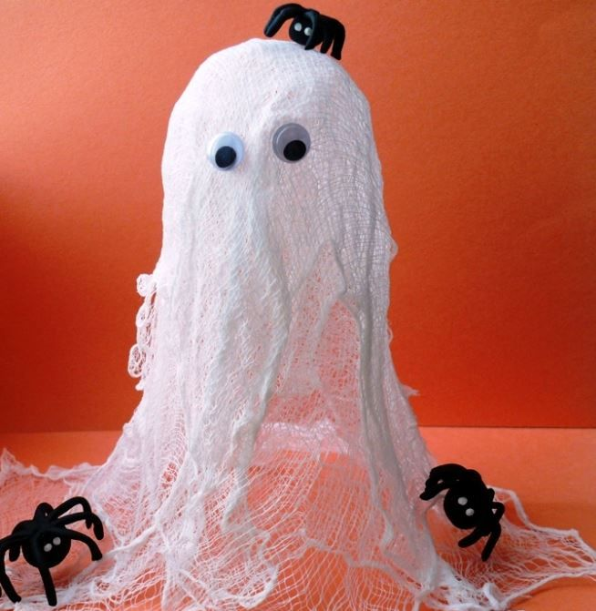 Halloween - svítící dýně - návod, duch,  návod, hallovin ozdoba, mobil, mobilní ozdoba, helovín, stračidlo, maska ducha, jak udělat ducha, horor