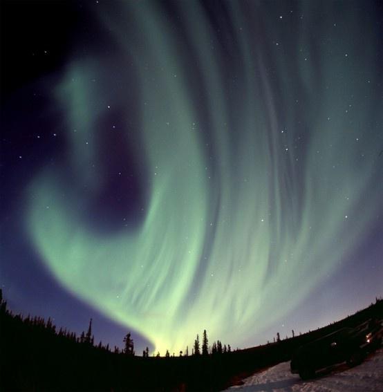 Late night northern lights.