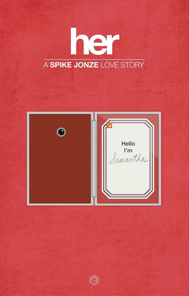 Her (2013) ~ Minimal Movie Poster by Angie Reyes #amusementphile