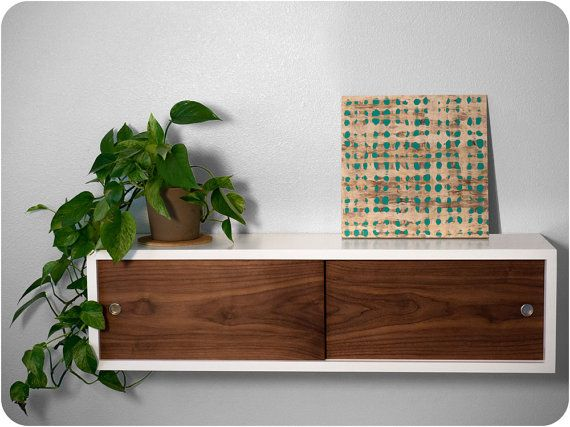 Designed to be both minimal and versatile, this multipurpose floating shelf can an be customized to fit your home. Inspired by a television console I
