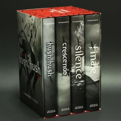 Cannot put the last book down. Hush Hush series by Becca Fitzpatrick