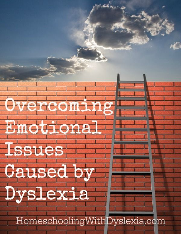 Overcoming Emotional Issues Caused by Dyslexia.  Being a dyslexic can be discouraging over time.  This post will walk you through steps you can take to encourage those with dyslexia in your life.  http://www.HomeschoolingWithDyslexia.com