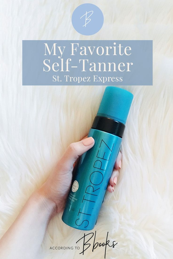 My Favorite Self-Tanner: St. Tropez Express