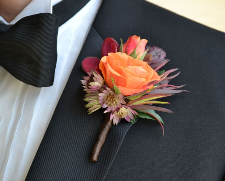 Image result for fall wedding boutonniere ideas