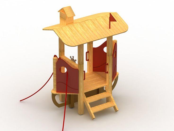 VG1002A - Küçük Gemi | Ahşap Çocuk Oyun Parkları | Ahşap Oyun Grupları | Çocuk Oyun Parkları | Doapark