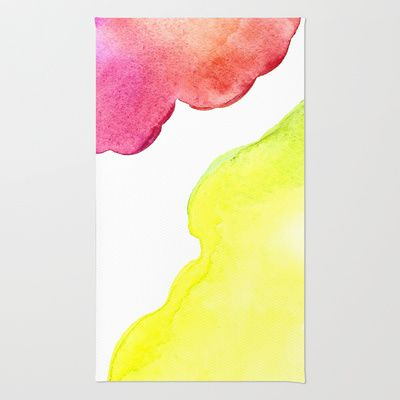 Rugs by Amee Cherie Available here: http://society6.com/ameecheriepiek/watercolor-3bn#1=45