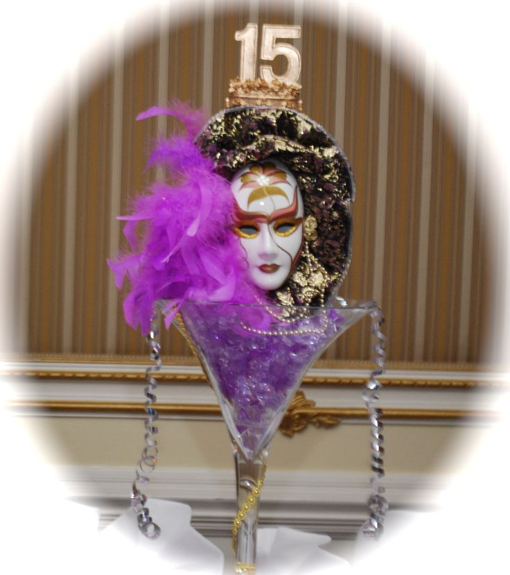 Quinceanera Masquerade Party centerpieces | Theme Parties ...