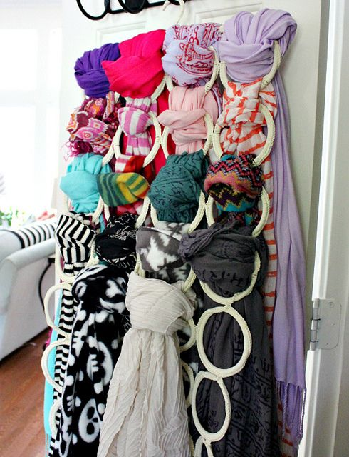 Scarf organization from Ikea- I so need this! Thanks for the pin Sister!!!